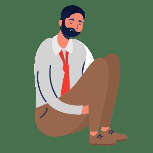 schwacher kranker Unternehmer